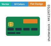 credit card icon. flat design....
