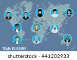 people avatar on world map ... | Shutterstock .eps vector #441202933