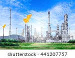 oil and gas refinery plant with ... | Shutterstock . vector #441207757