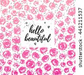 hello beautiful greeting card ... | Shutterstock .eps vector #441211537