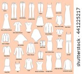 women clothes with names.... | Shutterstock .eps vector #441225217