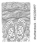 Coloring Book For Adult. Sea...