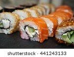 best types of sushi rolls.... | Shutterstock . vector #441243133