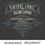 vintage typographic label... | Shutterstock .eps vector #441244447