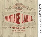 vintage typographic label... | Shutterstock .eps vector #441245077
