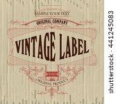 vintage typographic label... | Shutterstock .eps vector #441245083