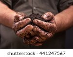 Bunch Of Good Soil In Hands Of...