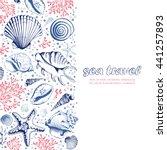 vector card with seashells ... | Shutterstock .eps vector #441257893