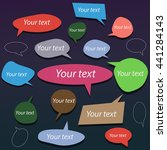 set of colorful comic speech... | Shutterstock .eps vector #441284143