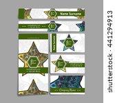 set of vector design templates. ... | Shutterstock .eps vector #441294913