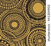 flower mandala card   zentangle ... | Shutterstock .eps vector #441304903