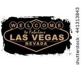 las vegas city concept. logo.... | Shutterstock .eps vector #441313843