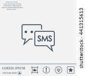 sms sign icon   Shutterstock .eps vector #441315613