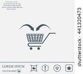shopping cart icon | Shutterstock .eps vector #441320473