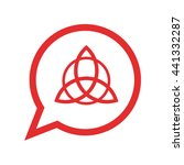 triquetra symbol . red icon  ... | Shutterstock .eps vector #441332287