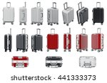 set luggage travel. 3d graphic... | Shutterstock . vector #441333373