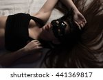 selective focus point on black...   Shutterstock . vector #441369817