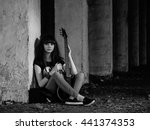 girl with guitar | Shutterstock . vector #441374353