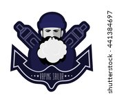vaping sailor. logo with... | Shutterstock .eps vector #441384697