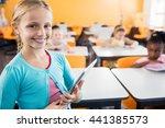 portrait of smiling pupil... | Shutterstock . vector #441385573