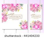 vintage delicate invitation... | Shutterstock .eps vector #441404233