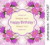 invitation or wedding card...   Shutterstock .eps vector #441417187