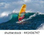 Windsurfer Rides Among The Hug...