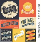 vintage poster   retro and hand ... | Shutterstock .eps vector #441441823