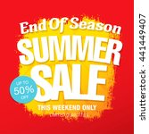 summer sale. vector template... | Shutterstock .eps vector #441449407