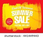 summer sale. vector template... | Shutterstock .eps vector #441449443