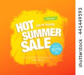 summer sale. vector template... | Shutterstock .eps vector #441449593