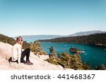 photo of girl near lake tahoe ... | Shutterstock . vector #441468367