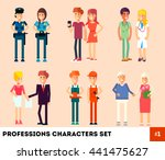 people  professionals ... | Shutterstock .eps vector #441475627