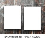 close up of two blank frames... | Shutterstock . vector #441476203