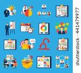 scrum agile development... | Shutterstock .eps vector #441479977