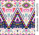 multicolor tribal navajo vector ... | Shutterstock .eps vector #441511573