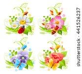 Summer Or Spring Floral Banner...