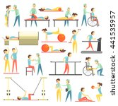 physical therapy infographic... | Shutterstock .eps vector #441535957