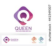 q letter in harmony color round ... | Shutterstock .eps vector #441549307