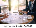 gadget addiction in business | Shutterstock . vector #441566047