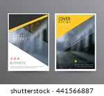 business template for brochure  ... | Shutterstock .eps vector #441566887