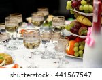 the buffet table with fruits... | Shutterstock . vector #441567547