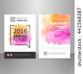 annual report  brochure or book ... | Shutterstock .eps vector #441568387