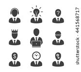 man icon set. businessman... | Shutterstock .eps vector #441568717