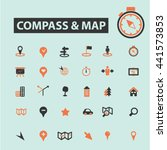 compass map icons | Shutterstock .eps vector #441573853