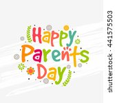 a beautiful greeting card... | Shutterstock .eps vector #441575503