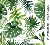 Watercolor Tropical Leaves...