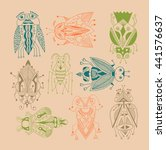 handmade liner drawing of... | Shutterstock . vector #441576637