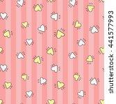 welcome baby girl decorative... | Shutterstock .eps vector #441577993