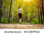 young fitness woman in... | Shutterstock . vector #441589963